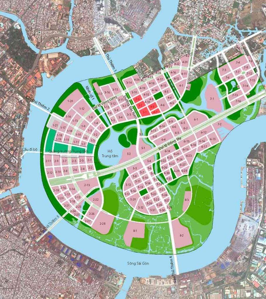 Bản đồ vị trí Thủ Thiêm Lake View