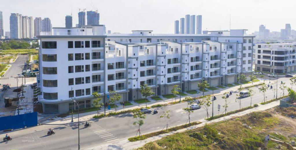 Hình thực tế khu nhà ở Lake View 2 là 1 trong 5 phân khu của dự án Thủ Thiêm Lake View