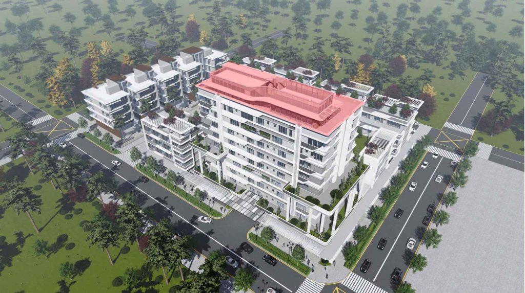 Hình phối cảnh dự án Thủ Thiêm Lake View lô 3.2 và 2 căn Penthouse tầng 10